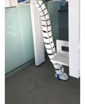 Pasacables para mesa de oficina vertical tubular