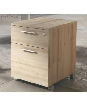 Cajonera con archivador para oficina acabado aspecto madera