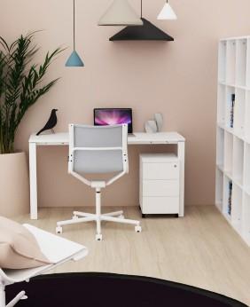 Mesa de oficina Ipop acabado aspecto madera