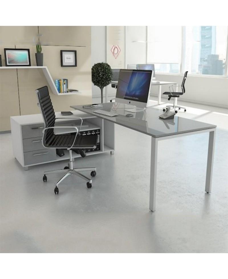 Mesa dirección Ipop con mueble ala Lacado
