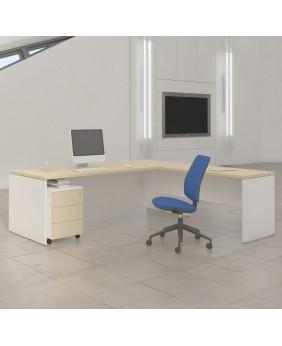 Mesa de oficina Premier con extensión ala