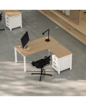 mesa oficina nova plus con ala lateral