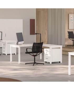 mesa de oficina nova plus de ofitres con ala latera.